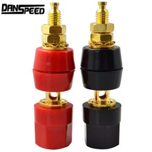 New Arrival 1 Pair Banana Plugs Couple Terminals Red Black Connector Amplifier Terminal Binding Post Banana Speaker Plug Jack(China)