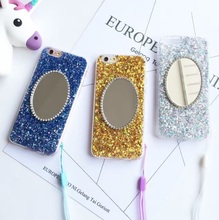 20% off buy 2pcs,Colorful Mirror Bling Sparkling Glitter Soft TPU Back Shell Case with Dust Plug For iPhone 6 6Plus