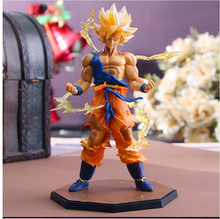 Hot Japanese Anime Dragon Ball Z Cartoon Figurine  Son Goku Collectible Action Figure Son gouku Model Decoration children gift
