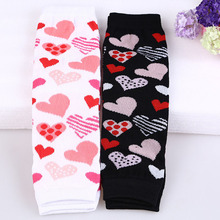 Fashion Valentine Baby Leg warmer Pink Black Toddle Leg warmers Heart Printed Infant Leg warmer For Baby Girls Boys(China)