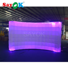 2017 China manufacture attractive new led inflatable wall,shopping mall photo booth for advertising equipment party event