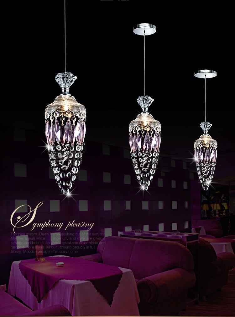 kitchen crystal single head pendant light   dining room  bar study room hanging  led crystal lighting<br>