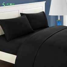 Romantic Soft Black Bedding Set Bedclothes Twill Bohemain Duvet Cover Set with Pillowcases 2/3pcs Twin Full Queen King Size
