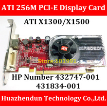New Arrive  ATI X1300 256M 128Bit  PCI-E Display Card  432747-001  Support Dual Screen Display  Distribution DMS-59Pin Cable