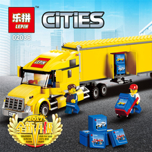 Free Shipping Lepin 298Pcs The City Yellow Truck Bulding Block Toys Transportation Truck Model Children DIY Bricks Kids Gifts(China)