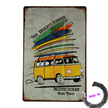 Vintage Metal/Tin sign Kombi Bus ENDLESS SUMMER Car Pub Home Wall Decor Craft iron Painting <I57,8*12inch>