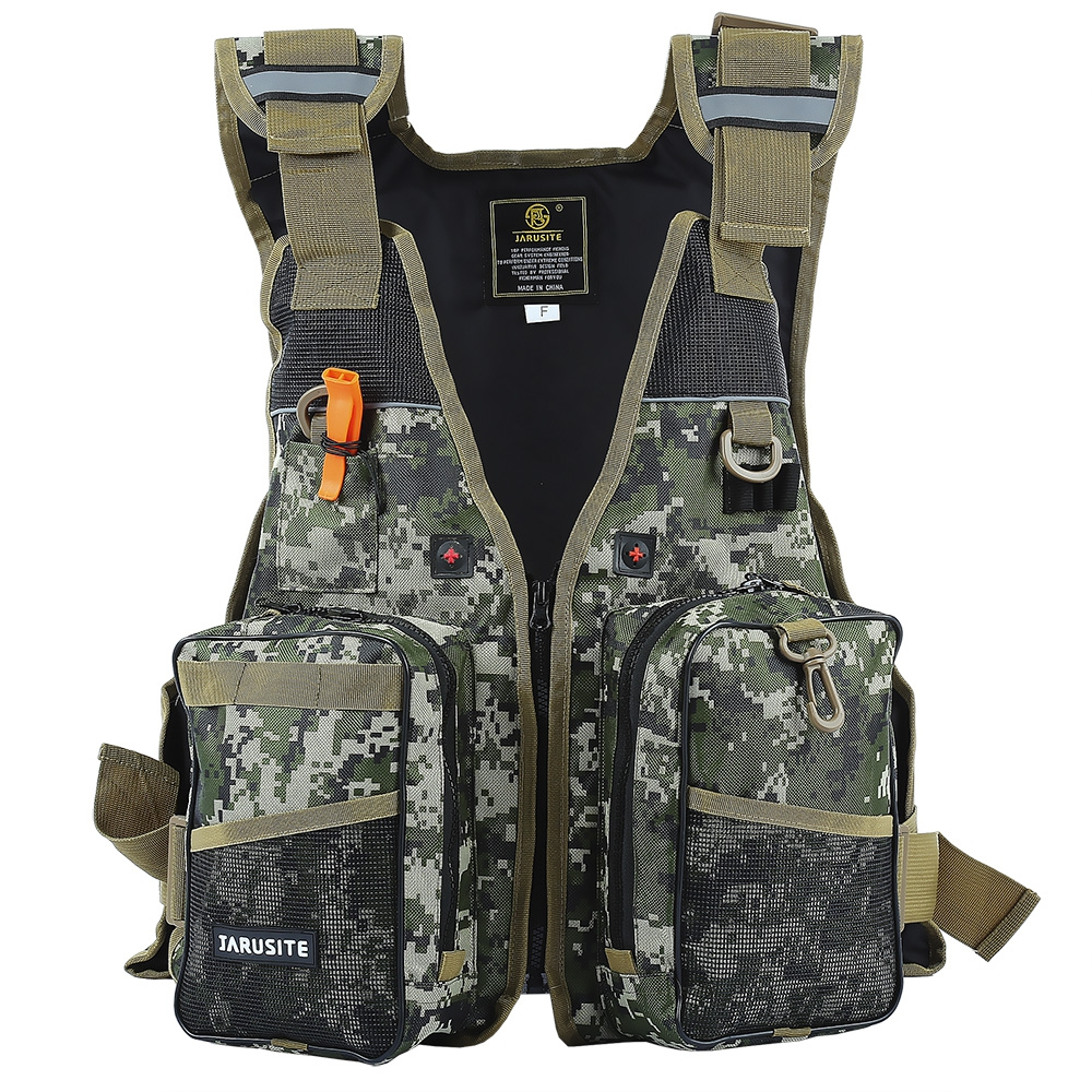 Safety Life Jacket Digital Camouflage Water Sport Professional Life Vest Survival Suit Water Safety Tool Sailing Fishing Clothes(China)