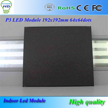 Black pearl P3 64x64dots led video wall/led module/led advertising panel 192x192mm for HD led display