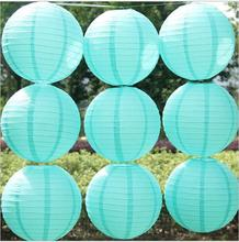 New 4-6-8-10-12-14-16Inch Tiffany Blue Chinese Paper Lanterns for Wedding Event Party Decoration Holiday Supplies Paper Ball