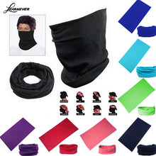 Pure Color Bandana Face Mask Multi Scarf Tube Mask Cap Scarves Sweat Absorbing Riding Supplies Magic Scarf  D01808