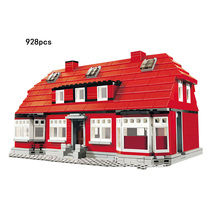 Hot Classic city street view creator builder Ole Kirk's red House building block model bricks 4000007 toys collection for kids