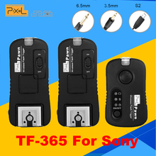 Pixel TF-365 Wireless Flash Trigger (1X Transmitter + 2x Transceiver)for SONY MI Hotshoe Interface A58 NEX-3NL A3000 A6000 HX300(China)