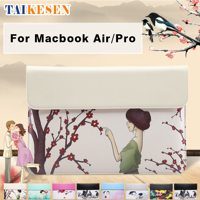 Waterproof liner bag envelope PU leather case Laptop Sleeve Tablet pc case cover Protective bag 11 12 13 15 For Macbook Air Pro<br><br>Aliexpress