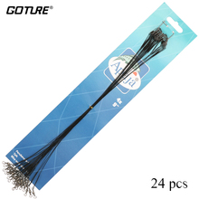 "Goture 24 Pcs/Bag Stainless Steel Wire Fishing Leader Line Black Fishing Line with snap and swivel 12"" LONG 35 LBS TEST"