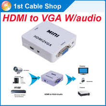 HDMI to VGA cable adpater HDMi to VGA with audio converter for HDMI device to VGA monitor PS4,PS3,laptop etc.
