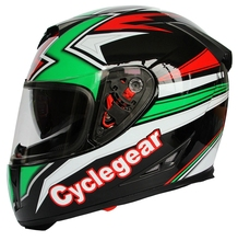 Cyclegear Brand Motorcycle Helmet Kawasaki Ninja Cup Double Lens Full Face Motor Bike Casque CG903(China)