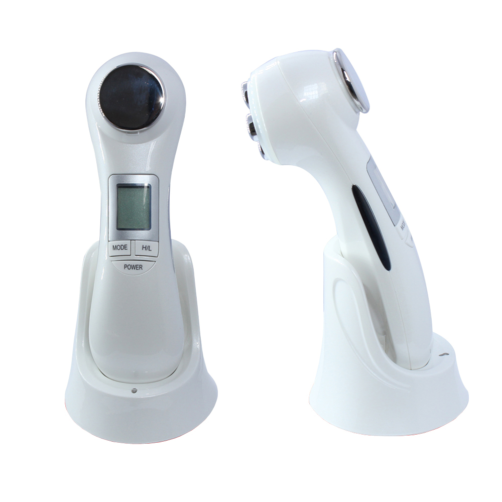 LED Photon RF Lifting Ultrasonic Facial Massager Face Skin EMS Electroporation Mesotherapy Radio Frequency Galvanic Ion Beauty<br>