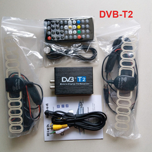 High Speed DVB T2 Car DVB-T2 Box Double Antenna DVB-T2 Car DVB T H.264 MPEG4 External USB Digital Car TV Tuner(China)