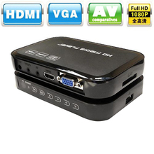 Multimedia Full HD 1080P HDMI Media Player Center HDMI VGA AV Output with Remote Control