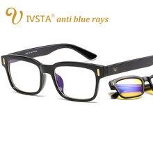 a1463a05eca40 IVSTA Anti Raios Azuis Computador Óculos de Proteção Óculos De Miopia  Óculos Óculos de Prescrição Dos Homens Blue Light Gaming Ó..