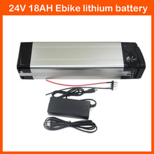 350W 24V Lithium battery 24 v battery pack 24V 18AH Electric Bike Battery with 29.4V 2A charger and 15A BMS Bottom Discharge