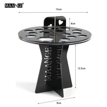 Acrylic 16 Holes Plastic hole Cosmetic Makeup Brushes Round Dryer Holder Stand Pen Storage organizer display showing tower rack(China)