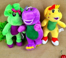 BOHS Pelucia 17CM Plush Tyrannosaurus rex Purple Dinosaur Baby Bop B.J. Stuffed Animals Movie Cartoon Toys(China)