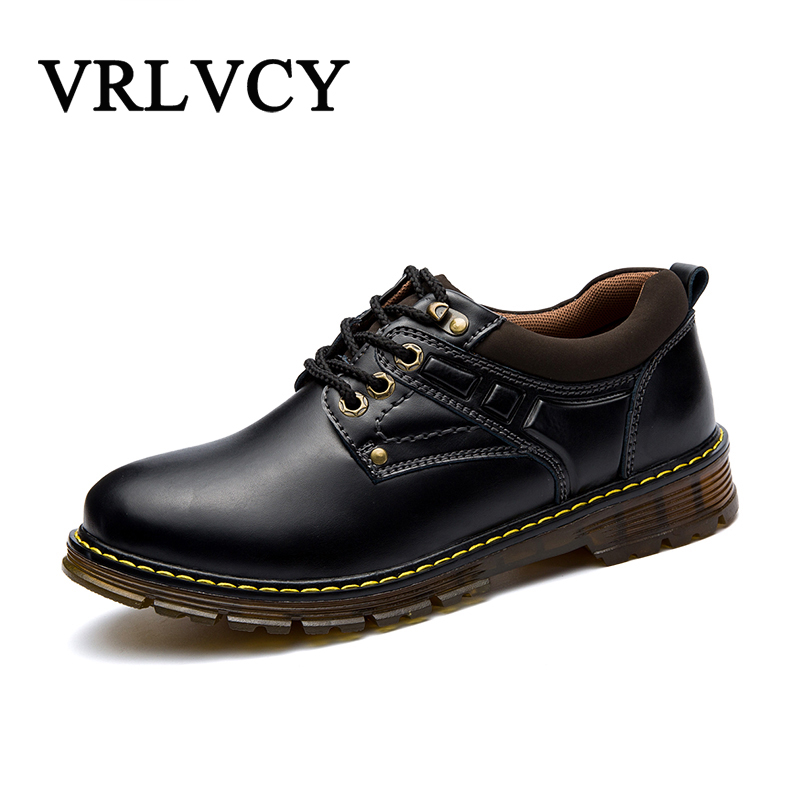 High Quality Men Flats Casual New Genuine Leather Flat Shoes Men Oxford Fashion Lace Up Dress Shoes Work Shoe Sapatos<br>