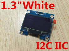 "1PCS 1.3"" OLED module white color 128X64 1.3 inch OLED LCD LED Display Module 1.3"" IIC I2C Communicate"
