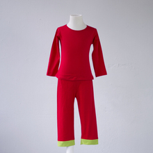 Cheap price pyjamas mix size Custom Logo Plain red color Pajama Set simple design comfortable infant kids winter pajamas(China)