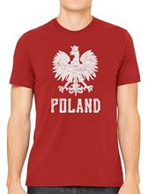 T-shirts 2017 Brand Clothes Slim Fit Printing Poland White Eagle Men's T-shirt(China)