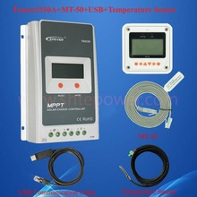 EPsolar 30A Tracer mppt solar charge controller 12v 24v auto work with MT50 LCD and Temperature sensor & USB communication cable