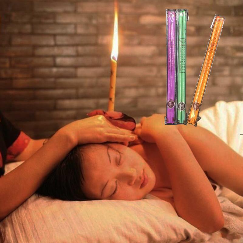 40 Pcs Coning Beewax Natural Ear Candle Ear Candling Therapy Straight Style Ear Care Thermo-Auricular Therapy 13