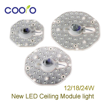 New LED Ceiling Module light with Replace Ceiling Lamp Source 12W 18W 24W AC175-265 For Bedroom Living Room , Pure White