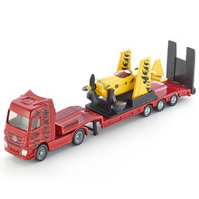 SIKU 1:87 Airplane Transporter Toy, Die cast Metal 1866 LMW Mit Low Loader With Sporting Airplane, Kids Toys, Brinquedos Trucks(China)