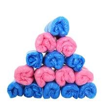 New Qualified 100pcs Outdoor Disposable Plastic Shoe Covers Carpet Cleaning Overshoes Levert Dropship dig6106(China)