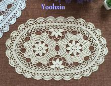 Modern Cotton white Crochet tablecloth Table cloth towel doilies flower round lace Table Cover placemat for Garden wedding decor(China)