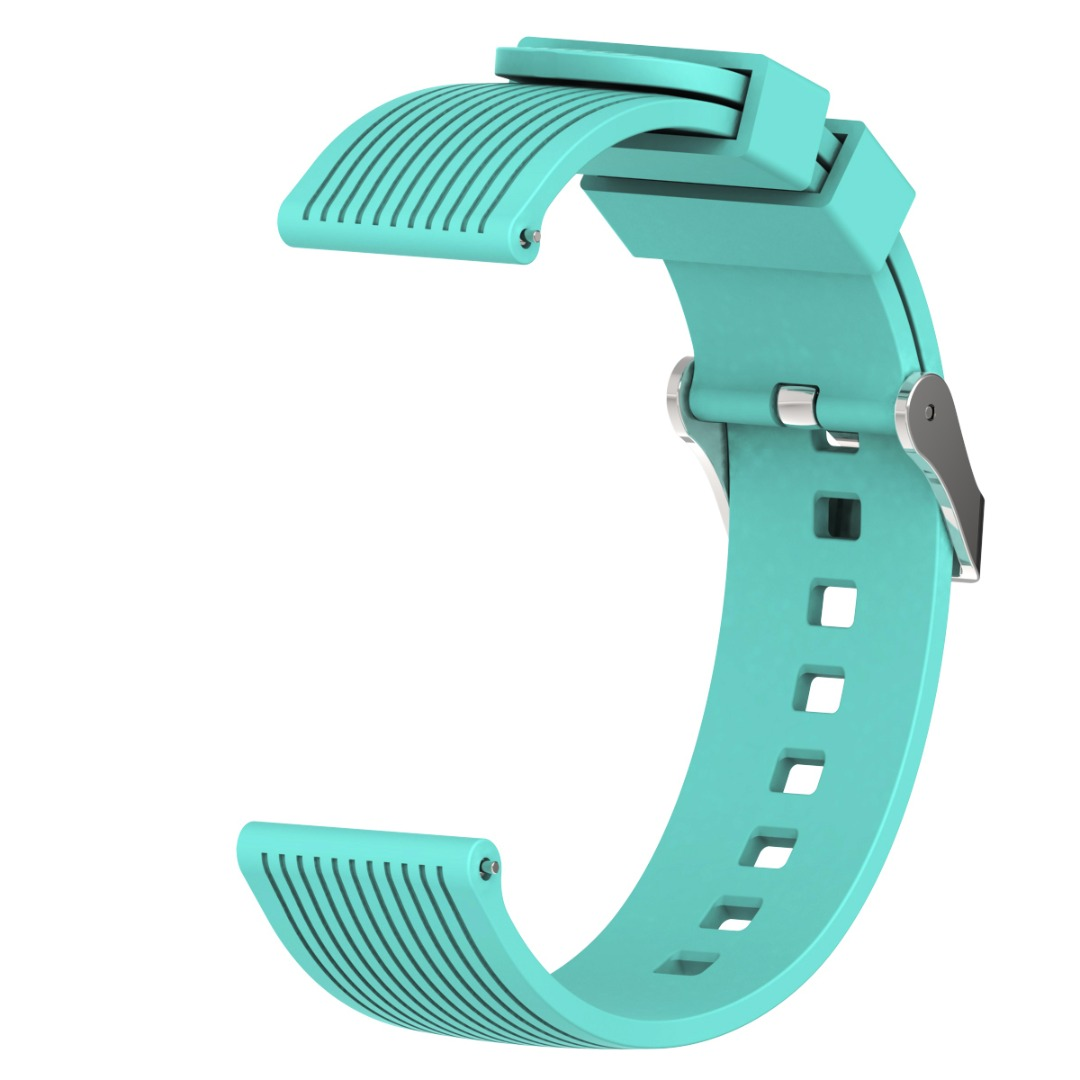 Shellhard 20MM Silicone Watchband for Samsung Galaxy Watch Striped Replacement Bracelet Strap for SM-R810 42MM Gear2