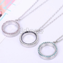 Fashion Charm Living Memory Floating Charms Round Locket Bezel DIY Pendant Necklace
