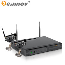 EINNOV 4CH CCTV System Wireless 720P NVR 1PCS/2PCS 1.0MP IR Outdoor P2P Wifi IP CCTV Security Camera System Surveillance Kit