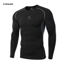 LS Brand 2017 Summer New Male T-shirt Tights Long Sleeve Tops & Tees Men Compression Shirt Fitness Quick Drying t shirt clothing