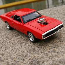 Candice guo alloy car model creative Dodge Charger Super sports motor Diecasts Vehicles acousto-optic pull back game toy gift