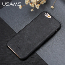 USAMS Leather Case For iphone 6 Case Cover Luxury 4.7 Inch Back Cover for iphone6 iPhone 6s Shell Phone Bags & Cases