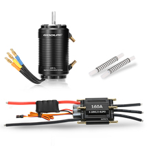 Original GoolRC 160A Brushless ESC and 4092 1250KV Motor with 40-L Water Cooling Jacket Combo for 1000mm (or Above) RC Boat