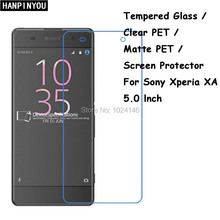 Tempered Glass / Clear PET / Matte PET -- Screen Protector Protective Film For Sony Xperia XA F3111 F3113 F3115 / XA Dual 5.0""