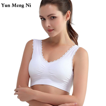 New Women Lady Chic Casual Solid Lace Fitness Bra Padded Bra Crop Tank Tops Stretch Vest 2017 Hot Sale(China)