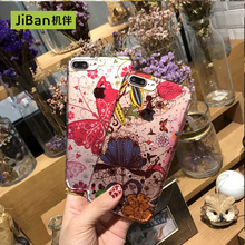 JiBan Wholesale Beautiful Lady Girl Daisy Flower Floral Phone Case For iPhone 7 Hard Back Cover For iPhone 7plus 6s Plus cases