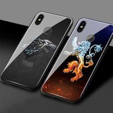 Game Throne House Targaryen Stark lannister Glass Soft Silicone Phone Case Xiaomi Mi 6 8 9 SE Mi Mix 2 2S 3 redmi note7