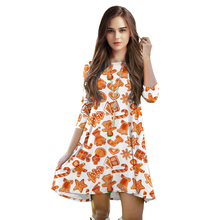 Hot Sale Gift 3D Printed Women Christmas Dresses Spring Autumn Casual Loose Dress Thin Female Clothing Big Size Drop Shipping(China)