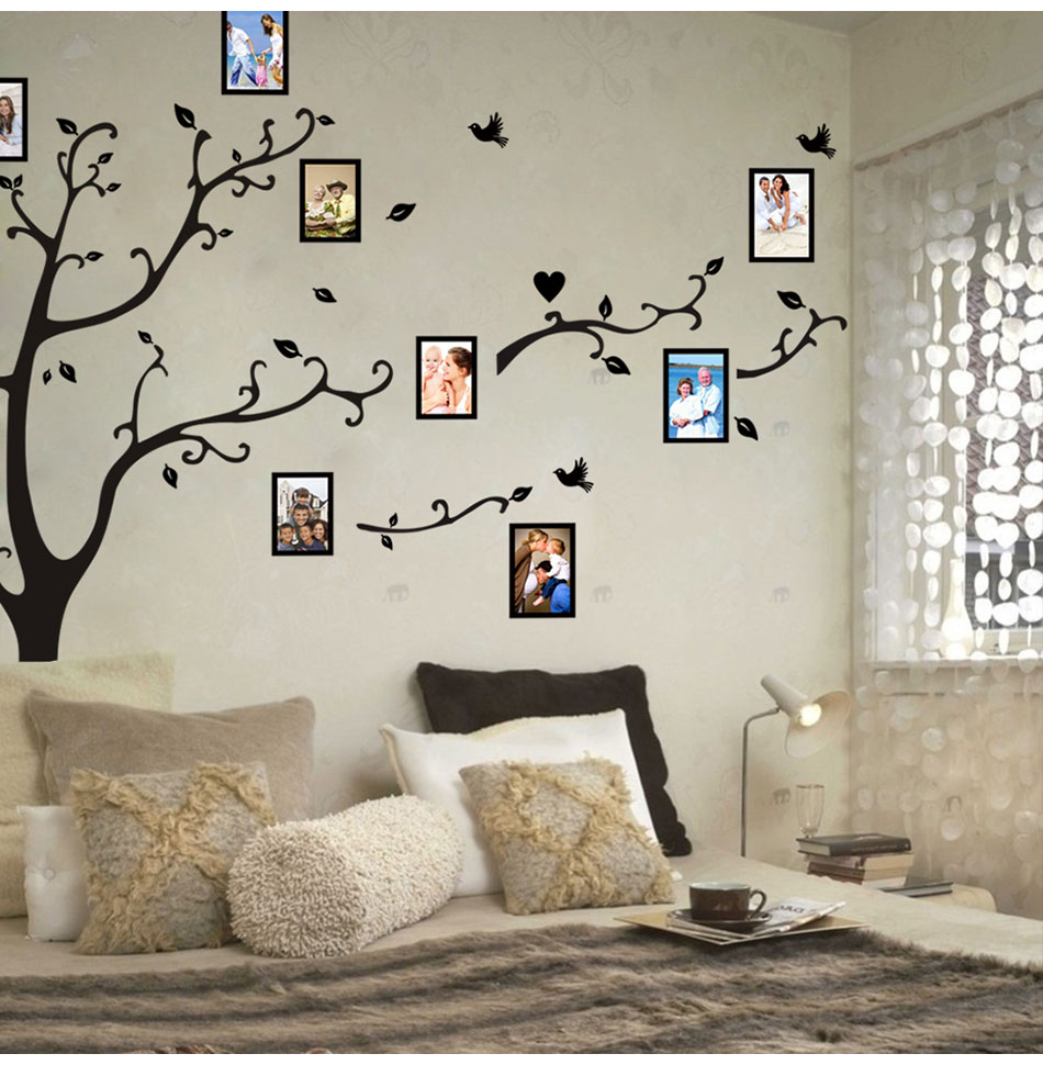 HTB1K5MahwMPMeJjy1Xcq6xpppXa6 - Large size 200*260cm colorful DIY photo vinyl tree family wall decal for living room